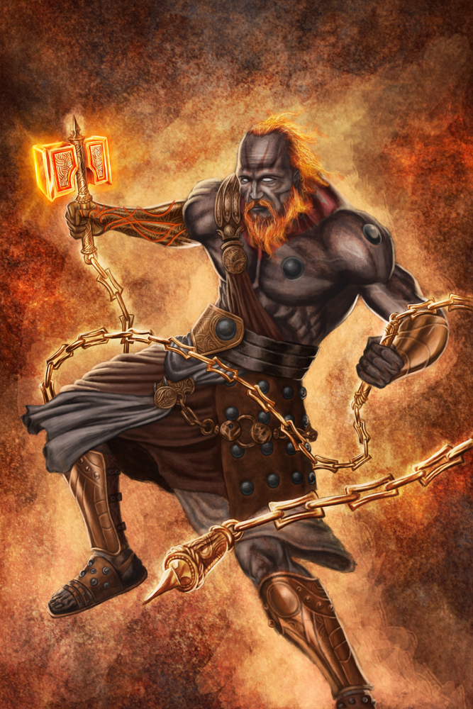 Hephaestus, God of Blacksmiths,, by http://elder-of-the-earth.deviantart.com/art/Hephaestus-157420030